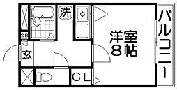 シャンブルII[3階]の間取り