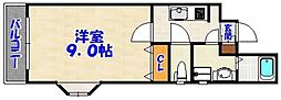 メゾン・ド・西新[2階]の間取り