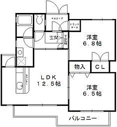 IGARASHIハイツ[1階]の間取り