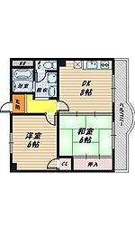 大阪府大阪市城東区今福東2丁目の賃貸マンションの間取り