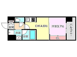 ライブガーデン新大阪II[9階]の間取り