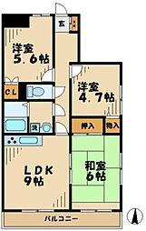 ステータスヒル寿岳[101号室]の間取り