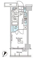 パークアクシス横濱大通り公園 3階1Kの間取り