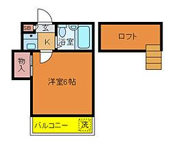 千葉県流山市名都借の賃貸アパートの間取り