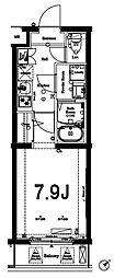 アクサス蒲田南 3階1Kの間取り