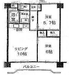 エスポワール・ドミ・藤崎南[405号室]の間取り