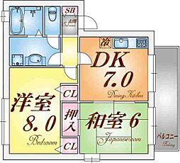 兵庫県神戸市須磨区養老町1丁目の賃貸アパートの間取り