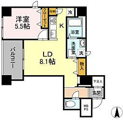 グランジット神田司町 4階1LDKの間取り