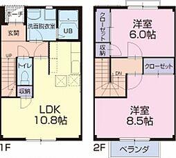 天竜浜名湖鉄道 二俣本町駅 徒歩23分の賃貸アパート 1階2LDKの間取り