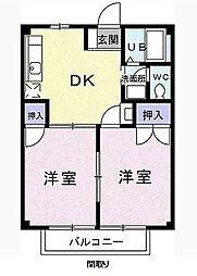 M&K [2階]の間取り