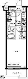 ルーブル武蔵関弐番館 2階1Kの間取り
