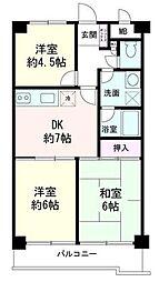 LAZ KONANDAI[2階]の間取り