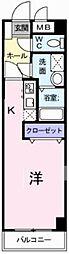 JR東北本線 蓮田駅 徒歩3分の賃貸マンション 1階ワンルームの間取り