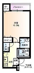 フジパレス堺鳳西I番館 1階1Kの間取り