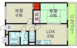レグルス 5階2DKの間取り