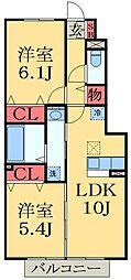 千葉県市原市藤井2丁目の賃貸アパートの間取り