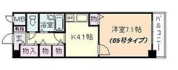 ブレスト塚本[4階]の間取り