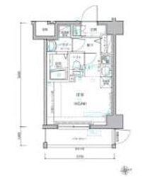 レグラス横濱保土ヶ谷 4階1Kの間取り