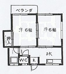 小田部アパート[201号室]の間取り