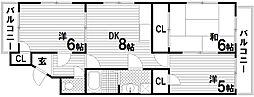 クィーンズコート壱番館[3階]の間取り