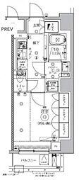 セジョリ虎ノ門 6階1Kの間取り