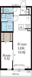 リブリ・メゾン 中宮 3階1LDKの間取り