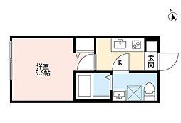 パークFLATS横浜白楽(パークフラッツヨコハマハクラク)[2階]の間取り