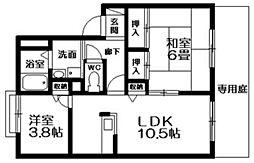 アイランド22壱番館[1階]の間取り