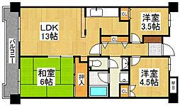 G−ONE姪浜駅南EAST[310号室]の間取り