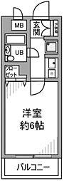 ジュネス中野島[402号室]の間取り