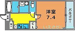兵庫県神戸市中央区大日通6丁目の賃貸アパートの間取り