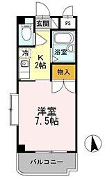 愛知県豊田市三軒町5丁目の賃貸アパートの間取り