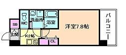Osaka Metro谷町線 中崎町駅 徒歩2分の賃貸マンション 2階1Kの間取り
