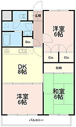 ひかりマンション[0303号室]の間取り