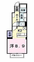 神奈川県海老名市杉久保南1丁目の賃貸アパートの間取り