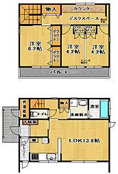 [一戸建] 福島県郡山市富田町字諏訪内 の賃貸【/】の間取り