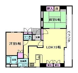メゾンカルム[4階]の間取り