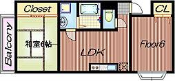 メルヴェイユー[2階]の間取り