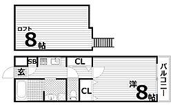 H.Cフラッツ月見山II[3階]の間取り