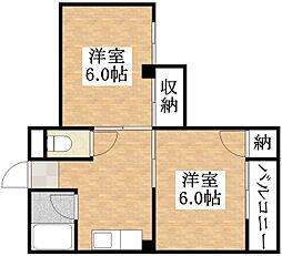 ボナール平野[3階]の間取り