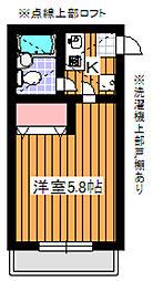 ピークハイム和光I[2階]の間取り