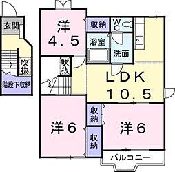 神奈川県綾瀬市落合南4丁目の賃貸アパートの間取り