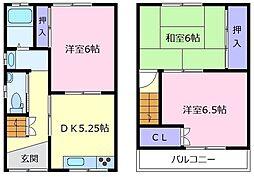 [一戸建] 大阪府松原市田井城3丁目 の賃貸【/】の間取り