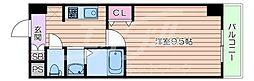 Osaka Metro千日前線 日本橋駅 徒歩8分の賃貸マンション 1階1Kの間取り