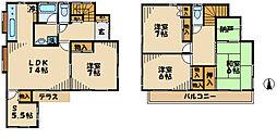 [一戸建] 東京都多摩市和田 の賃貸【/】の間取り