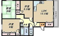 亘第一マンション[3階]の間取り