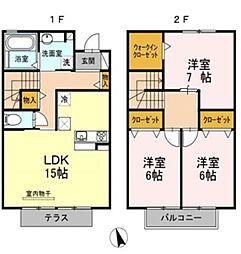 戸崎東山荘[1階]の間取り