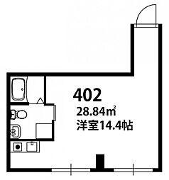 博多ステーションタワー[402号室]の間取り