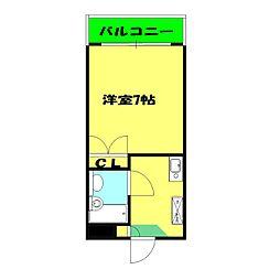 プロムナード三ッ沢[305号室]の間取り