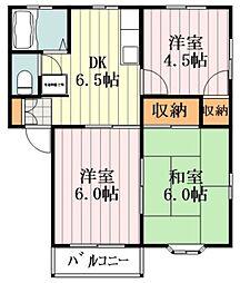 ボーン秋川 1階3DKの間取り